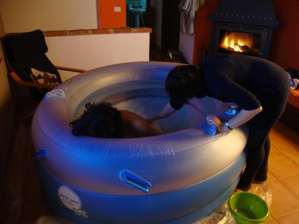 Travaglio in acqua in una delle nostre vasche gonfiabili